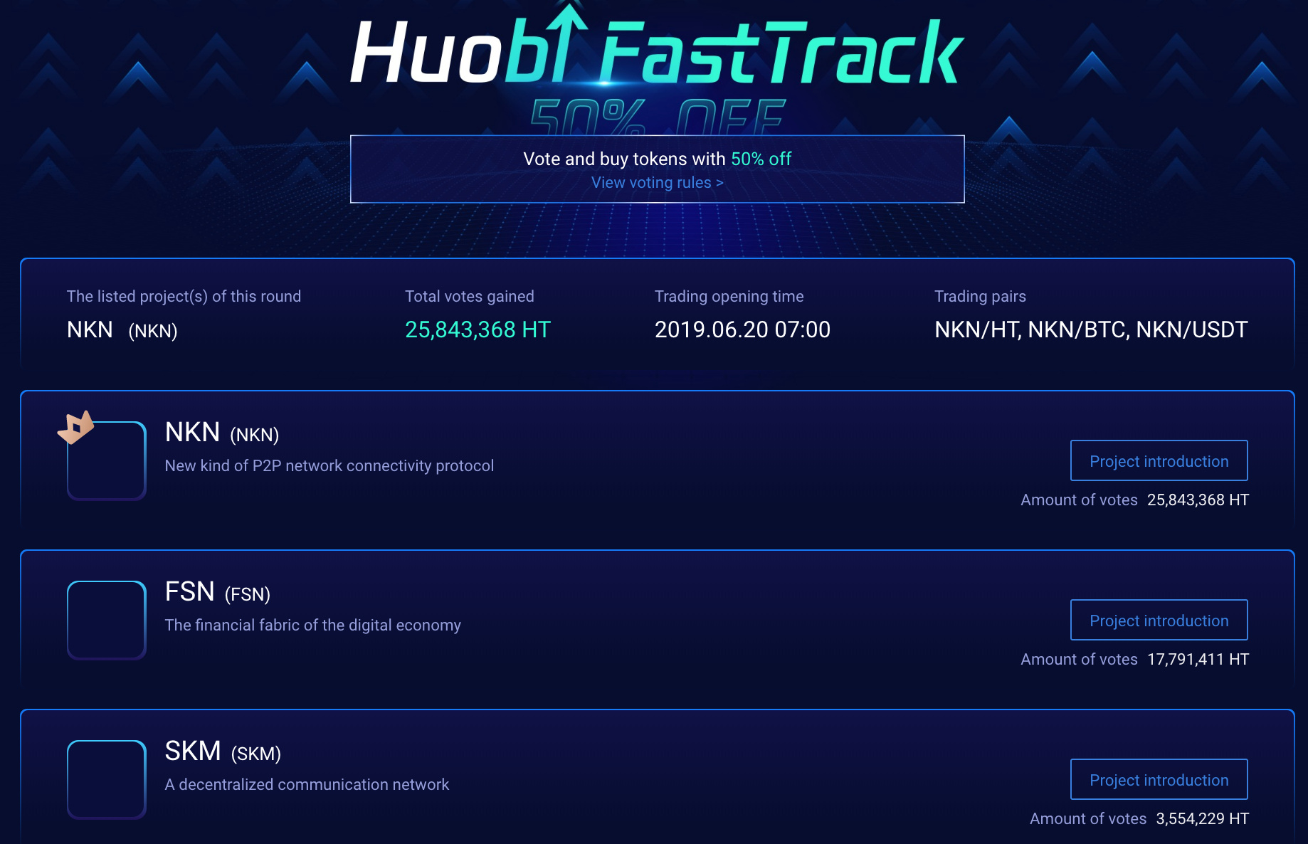 Huobi-NKN-FastTrack